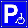 PF1533 - Engelli Araç Park Yeri İşareti/Levhası/Etiketi