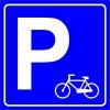 PF1547 - Bisiklet Park Yeri İşareti/Levhası/Etiketi