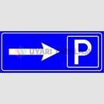 PF1553 - Otopark (Park Yeri) Sağda İşareti/Levhası/Etiketi