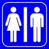 PF1585 - Kadın Erkek WC (Tuvalet) İşareti
