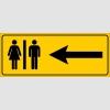 PF1612 - Kadın Erkek Tuvaletler Solda
