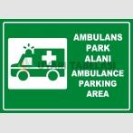 PF1770 - Türkçe İngilizce Ambulans Park Alanı, Ambulance Parking Area