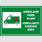 PF1785 - Türkçe İngilizce Ambulans Park Alanı, Ambulance Parking Area