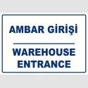 PF1774 - Türkçe İngilizce Ambar Girişi, Warehouse entrance