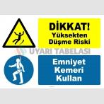 PF1792 - Dikkat! Yüksekten Düşme Riski, Emniyet Kemeri Kullan