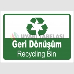 PF1794 - Türkçe İngilizce Geri Dönüşüm - Recycling Bin