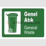 PF1795 - Türkçe İngilizce Genel Atık - General Waste