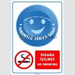 PF1800 - Türkçe İngilizce Dumansız Hava Sahası, Sigara İçilmez