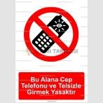 GI 2088 -Bu alana cep telefonu ve telsizle girmek yasaktır