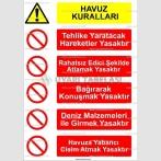 KT 4108 - Havuz kuralları tabelası