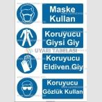KKD 4063 - Koruyucu maske, giysi, eldiven, gözlük kullan