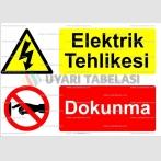 E 4038 - Elektrik tehlikesi, dokunma