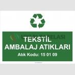 A1185-Tekstil ambalaj atıkları 15 01 09