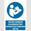 AT1182 - Tehlikeli Maddeleri Kullanmadan Önce Güvenlik Bilgi Formlarını Okuyun