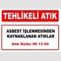 A061304 - Asbest işlenmesinden kaynaklanan atıklar