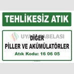 A 160605 - Diğer piller ve akümülatörler