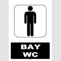AT1195 - Bay WC Tabelası