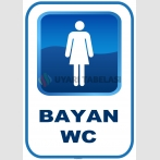 AT 1197 - Bayan WC Tabelası