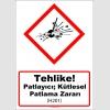 GHS1012 - Tehlike, Patlayıcı, kütlesel patlama zararı (H201)