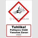GHS 1013 - Tehlike, Patlayıcı, ciddi yansıtım zararı (H202)