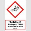 GHS1013 - Tehlike, Patlayıcı, ciddi yansıtım zararı (H202)