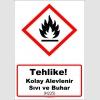 GHS1023 - Tehlike, Kolay alevlenir sıvı ve buhar (H225)