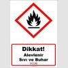 GHS1024 - Dikkat, Alevlenir sıvı ve buhar (H226)