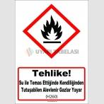 GHS 1034 - Tehlike, Su ile temas ettiğinde kendiliğinden tutuşabilen alevlenir gazlar yayar (H260)