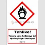 GHS 1036 - Tehlike, Yangına veya patlamaya yol açabilir, güçlü oksitleyici (H271)