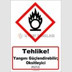 GHS 1037 - Tehlike, Yangını güçlendirebilir, oksitleyici (H272)