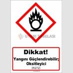 GHS 1038 - Dikkat, Yangını güçlendirebilir, oksitleyici (H272)