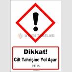 GHS 1043 - Dikkat, Cilt Tahrişine Yol Açar (H315)