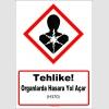 GHS1052 - Tehlike, Organlarda hasara yol açar (H370)