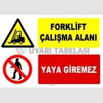 AT 1248 - Forklift Çalışma Alanı, Yaya Giremez