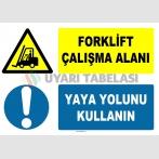 AT 1249 - Forklift Çalışma Alanı, Yaya Yolunu Kullanın
