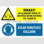 AT 1250 - Dikkat, Bu Alandaki Gürültü Seviyesi İşitme Kaybına Yol Açabilir, Kulak Koruyucu Kullanın