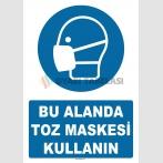 AT 1346 - Bu Alanda Toz Maskesi Kullanın