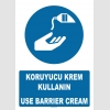AT1376 - Koruyucu Krem Kullanın, Use Barrier Cream