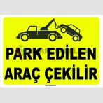 YT 7015 - Park edlien araç çekilir