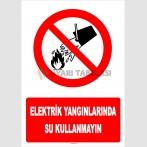 YT7108 - Elektrik yangınlarında su kullanmayın