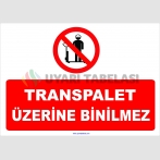 YT 7111 - Transpalet üzerine binilmez