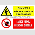 YT7171 - Dikkat yüksek gerilim trafo odası, sadece yetkili personel girebilir