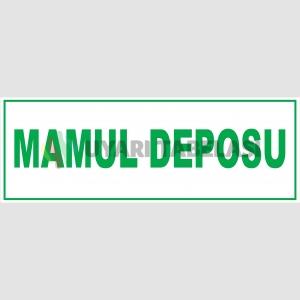 YT7341 - Mamul deposu