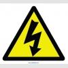 YT7304 - Elektrik tehlikesi işareti levhası/etiketi
