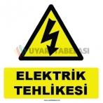 YT7300 - Elektrik tehlikesi levhası/etiketi
