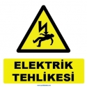 YT7301 - Elektrik tehlikesi levhası/etiketi