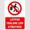YT7397 - Lütfen yerlere çöp atmayınız