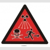 YT7416 - İlave radyasyon uyarı işareti levhası/etiketi