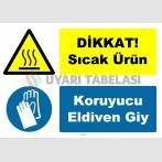 YT-7454 - Dikkat sıcak ürün, koruyucu eldiven giy