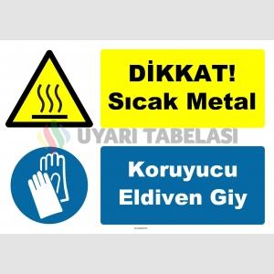 YT-7459 - Dikkat sıcak metal, koruyucu eldiven giy
